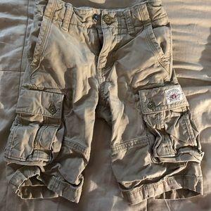 Boys khaki shorts.